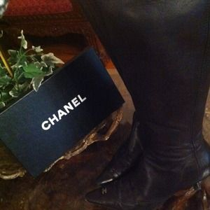Authentic chanel tall boots