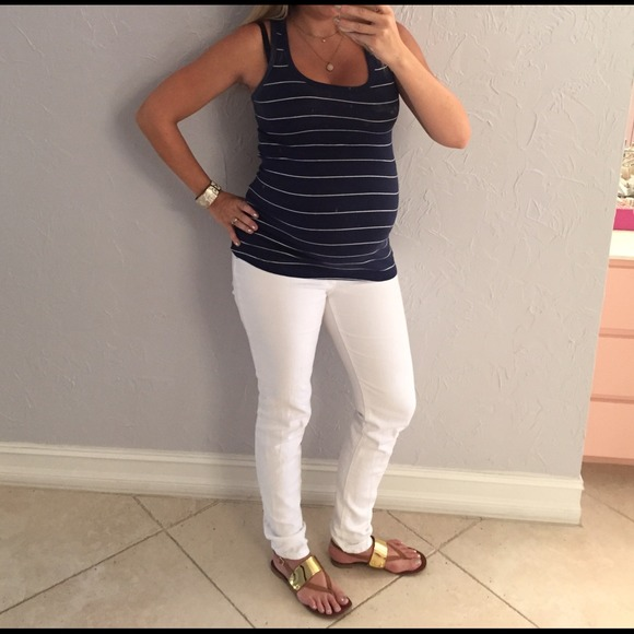 Motherhood Maternity - Motherhood Maternity white skinny jeans ...