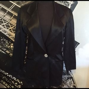 🆕 MICHAEL KORS 100% SILK BLACK JACKET.