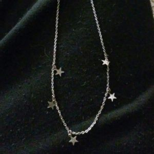 All silver star necklace