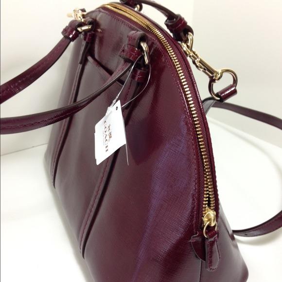 51% off Coach Handbags - Authentic coach Peyton satchel burgundy ...