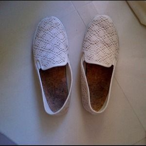 Shoes - Gianni Bini 💕 crocheted loafers. Very comfortable