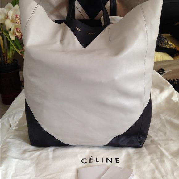 6a228b80eb 58% off Celine Handbags -   CELINE Vertical Cabas Bi-Color Tote .