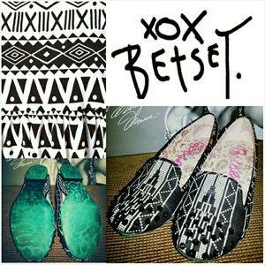 { BOGO 50% } Betsey Johnson Aztec Studded Flats