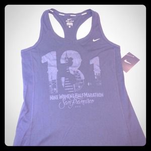 Nike Women's Half Marathon tank and hat