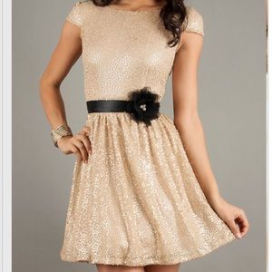 City Studio Dresses & Skirts - Gold sequined dress; Purchased from Macy's.
