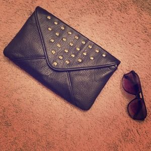 Adorable studded clutch! Never used!