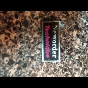 Accessories - Vintage New Order 80's concert pin