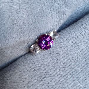 Orchid Mystic & White Topaz Sterling Silver Ring