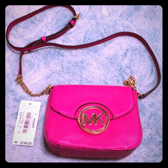 Michael Kors Bags   Hot Pink Mk Fulton Crossbody   Poshmark 95fc4b55a1