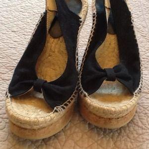 Nine West Shoes - Nine West Black canvas Sandals