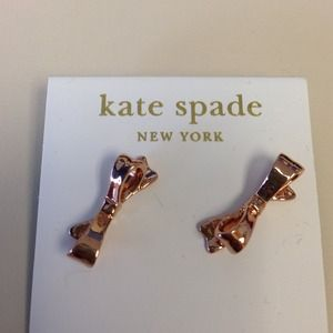 Kate Spade bow earrings