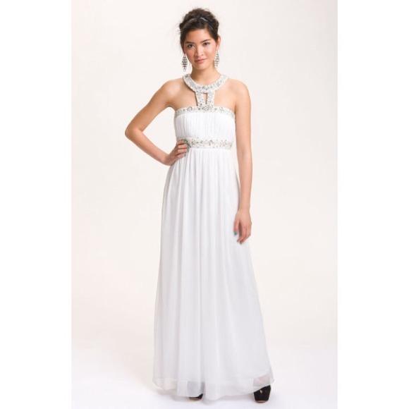 Nordstrom Dresses | White Grecian Gown | Poshmark