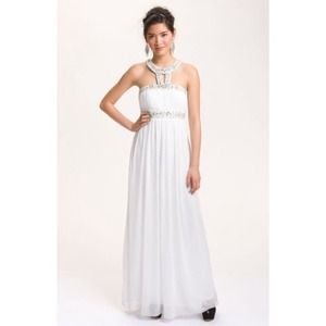 White Grecian Gown