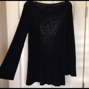 Sold--Navy tunic with embellished pattern