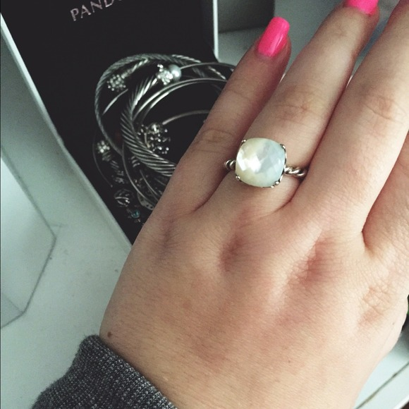 46 Off Pandora Jewelry Pandora Mother Of Pearl Ring