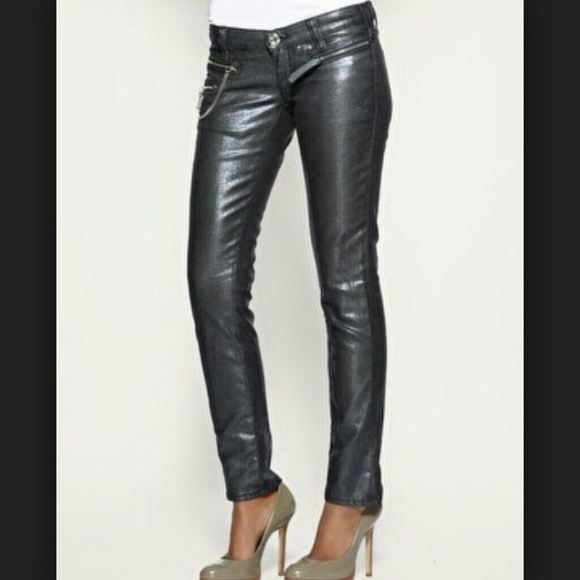 100% off Miss Sixty Pants - Black coated denim jeans from Judy's ...