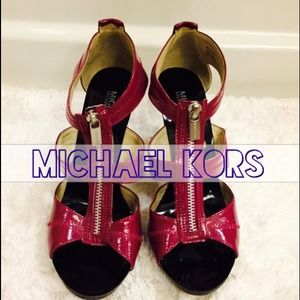 Michael Kors Patent Leather T-Strap