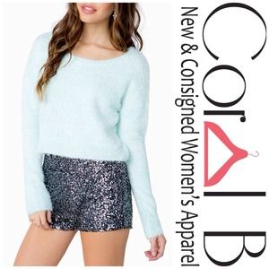 Sweaters - Blue Crop Sweater