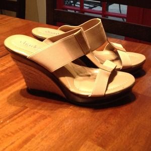 Charles David Wedge Sandals With 4-Inch Heels