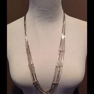 Jewelry - 8 Strand Silver Necklace w/Baby Pearls