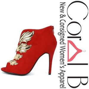 Shoes - Wing Stiletto Red Booties
