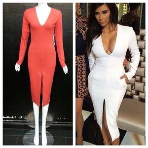GORGEOUS Kim K Inspired SPRING Dress L