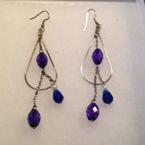 Jewelry - Hand Crafted Glass & Pearl Earrings