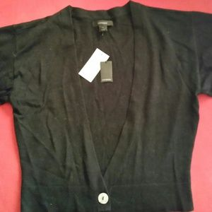 Black knit sweater/cardigan