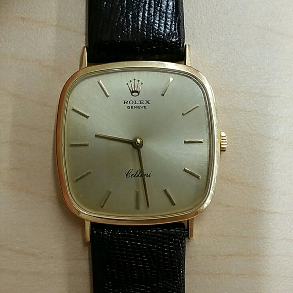 VINTAGE Rolex Cellini 4114 18K Dress Watch