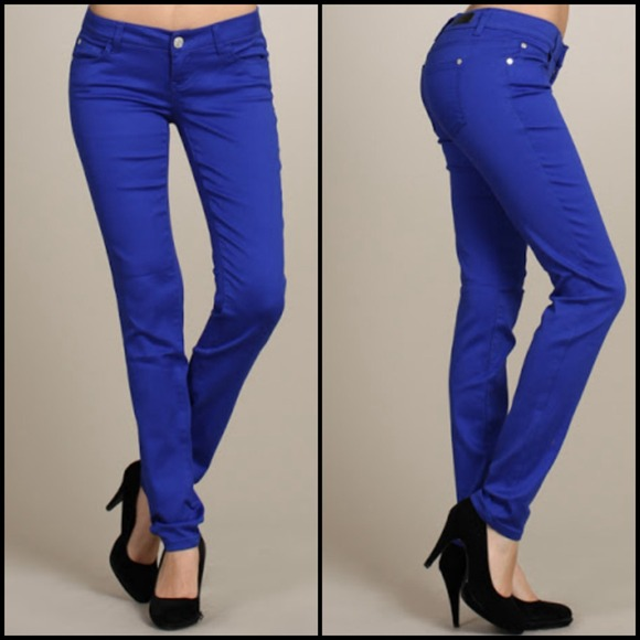 30% off Celebrity Pink Denim - Royal Blue Skinny Jeans from