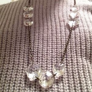 Upcycled Chandelier Crystal Layering Necklace Poshmark - Upcycled chandelier crystals