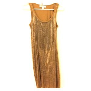 Michael Kors Gold Sequin Dress