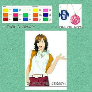 Jewelry - Colour monogram necklace