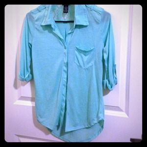 Tops - Teal button down