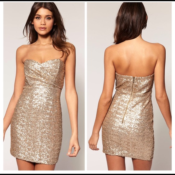 TFNC London - Gold TFNC Sophie Sequin Dress from LF from Kelsey's ...