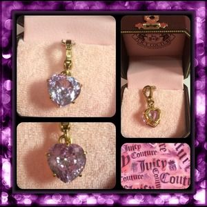 NEW! JUICY COUTURE PURPLE STONE HEART CHARM!!
