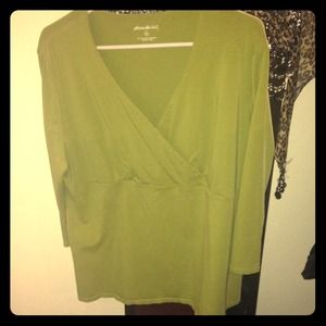 Cotton/Spandex 3/4 sleeve blouse dress up or down