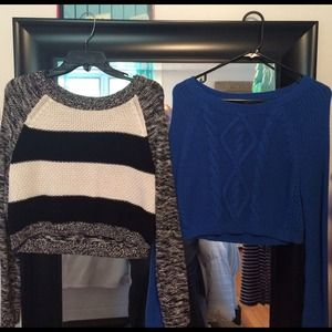 Express Longsleeve Crop Sweater Bundle!
