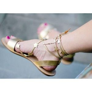 Bundle - Starla Gold Sandal and pink necklace