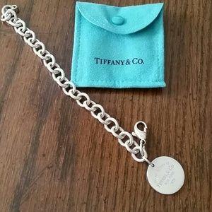 Return to Tiffany Round Tag Bracelet,  Sterling