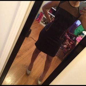 Dresses & Skirts - Was $35 Little black dress with mesh panels