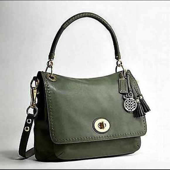 850233c14694 ... good coach ltd ed hamptons cypress green leather bag 4b1bc e4ff2 ...