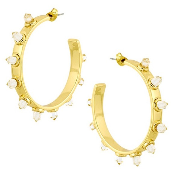 House of Harlow 1960 Jewelry - SALE! House of Harlow Crystal Spike Hoops