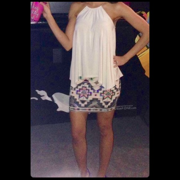 50% off Express Dresses & Skirts - Express Sequin Embellished Mini ...