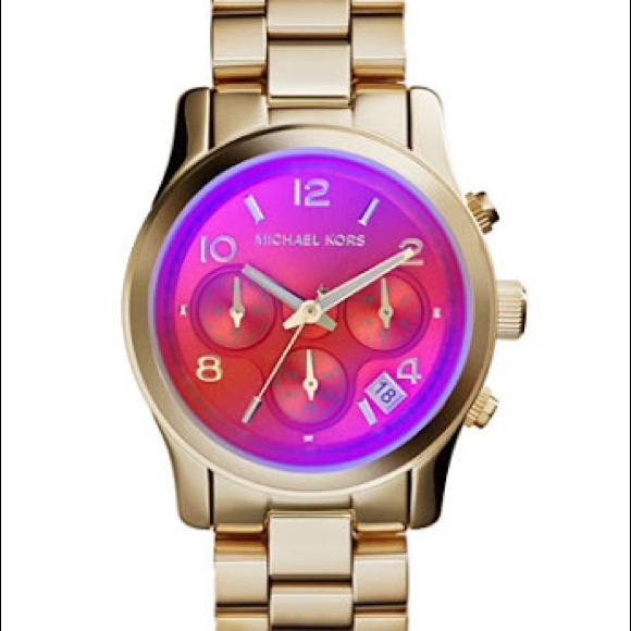 0b082ebc06e78 Michael kors changing color watch orange pink! M 546d3ff39dd0eb1b8d010ecd