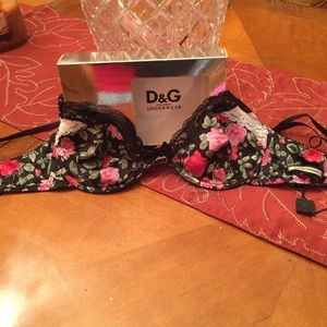 Dolce & Gabbana blooms red silk new bra