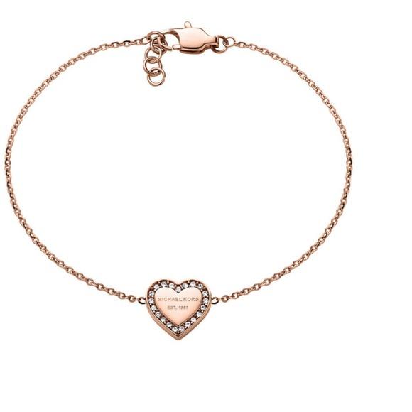 c8d3c7460a30 Michael Kors Rose Gold-tone Heart Charm bracelet