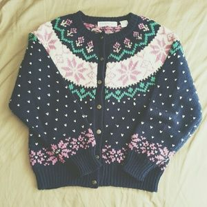 Vintage ski sweater cardigan