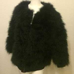 Top shop feather jacket